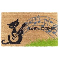 Coir Musical Cat Doormat