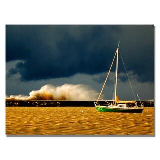 Nicole Dietz 'Lake Erie Storm' Canvas Art