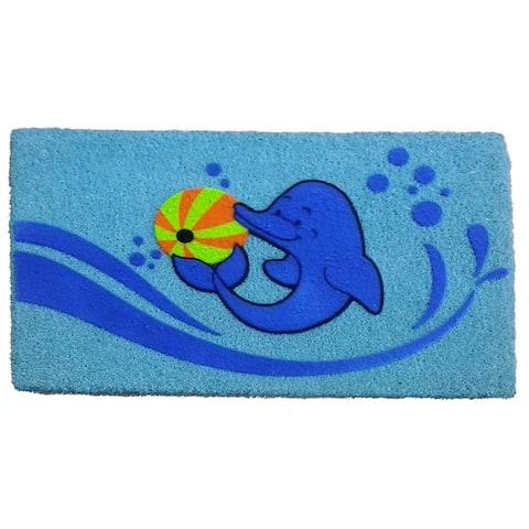 Coir Dolphin Beach Ball Doormat