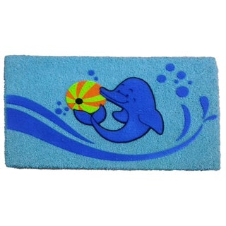 Coir Dolphin Beach Ball Doormat