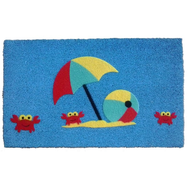 Coir Crabu0026#x27;s Beach Doormat
