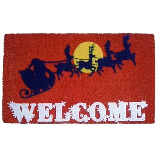 Coir Santa's Sleigh Doormat