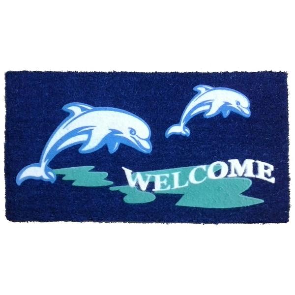 Coir Beach Dolphin Doormat