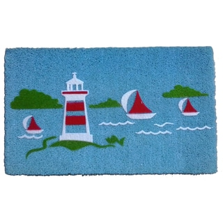 Coir Yacht Light House Doormat