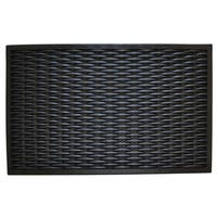 Wrought Iron Rubber Woven Doormat