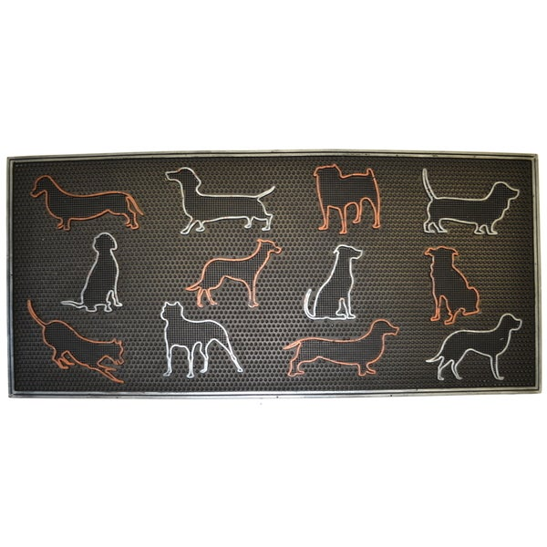 Wrought Iron Multicolored Dogs Doormat