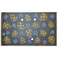Wrought Iron Golden Ladybugs Doormat