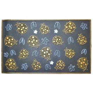 Wrought Iron Golden Ladybugs Doormat