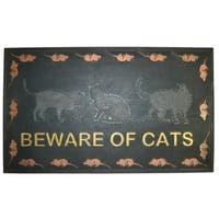 Wrought Iron Beware of Cats Doormat