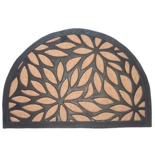 Brown Petals Half Round Doormat
