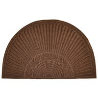 Brown Half Round Doormat