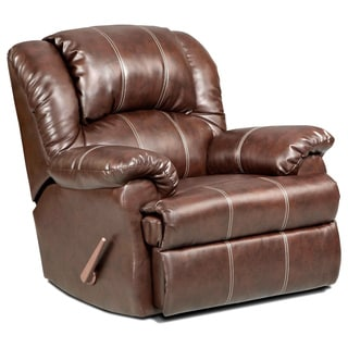 Brandan Bonded Leather Dual Rocker Recliner Chair, Brown