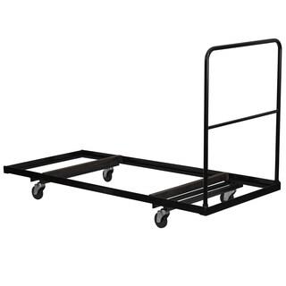 Black Steel Folding Table Dolly for Rectangular Folding Tables