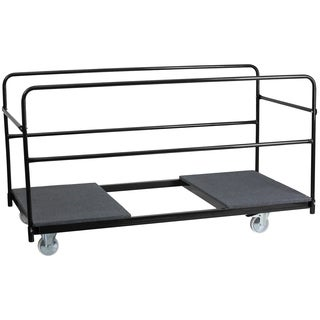 Folding Table Dolly with Carpeted Platform for Round Tables