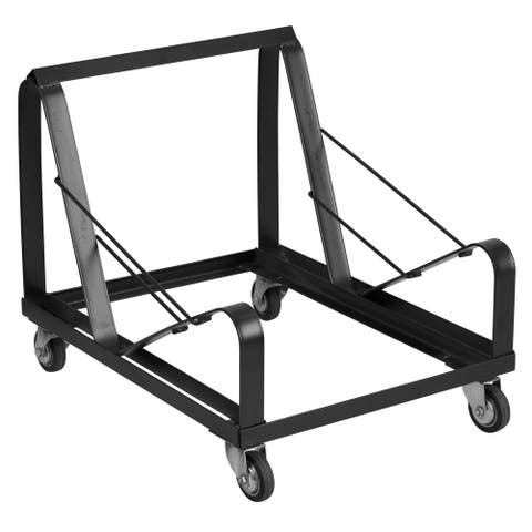 Black Steel Heavy Duty Sled Base Stack Chair Dolly - Chair Truck