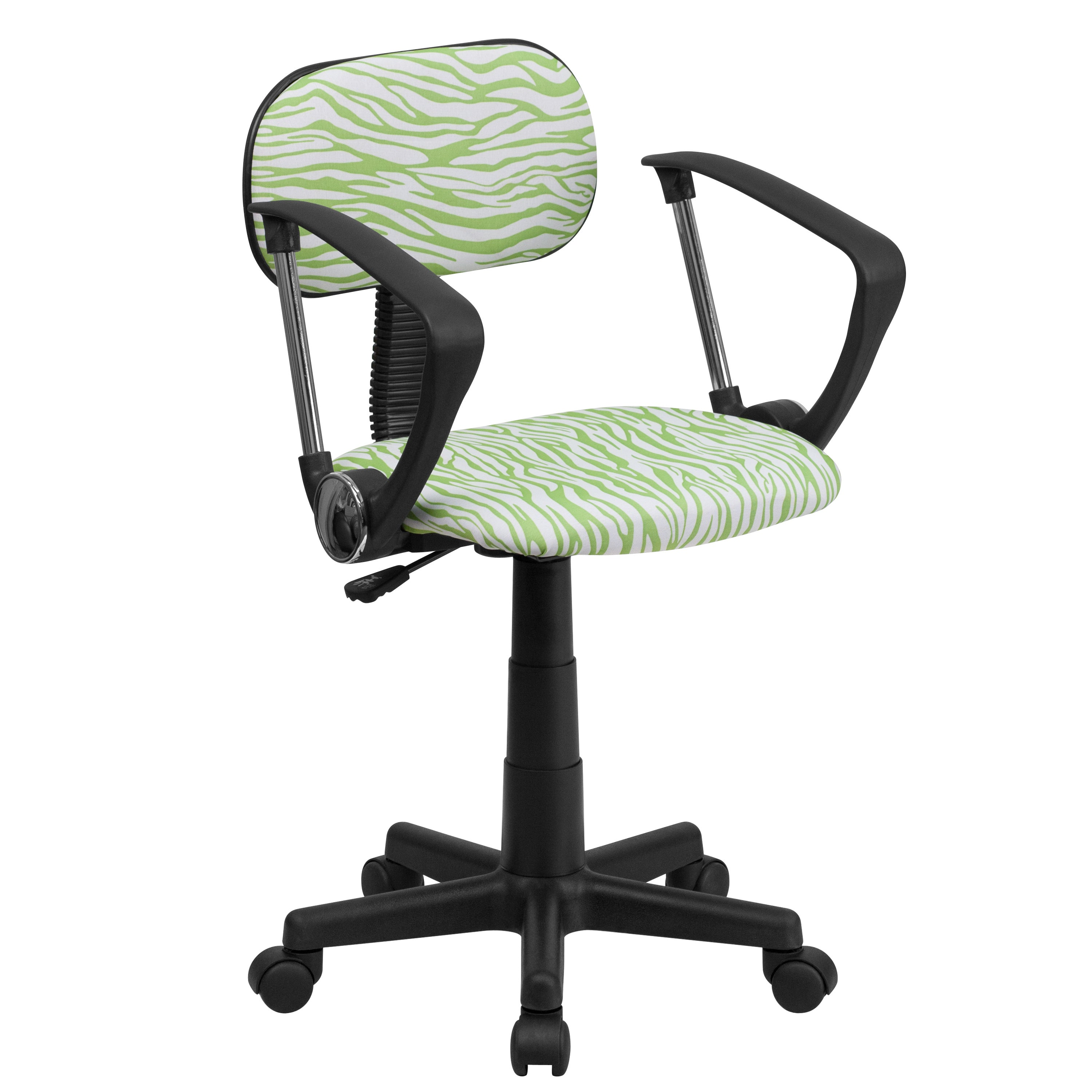FLASH Furniture Zebra Print Computer Chair with Arms (Gre...