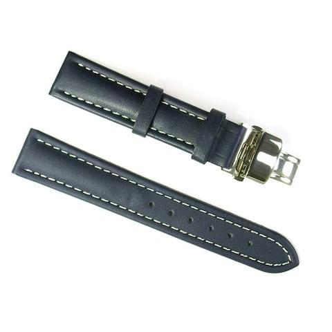 Banda Leather Waterproof Italian Calf Leather Blue Watch Strap