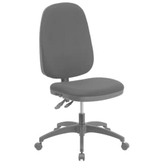 High Back Black Fabric Multi-functional Swivel Task Chair