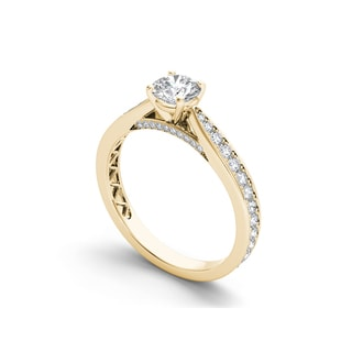 De Couer 14k Gold 1ct TDW Diamond Classic Engagement Ring