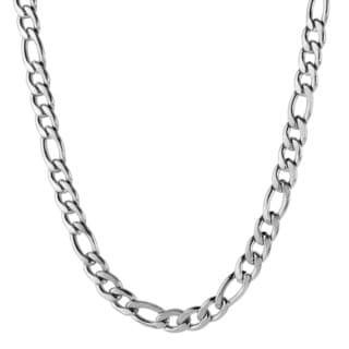 Men's Stainless Steel Figaro Chain Necklace (4.6 mm)