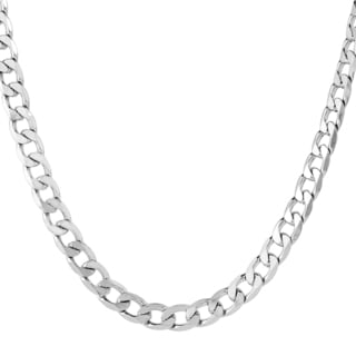 Men's Stainless Steel Beveled Cuban Link Chain (9.7 mm)