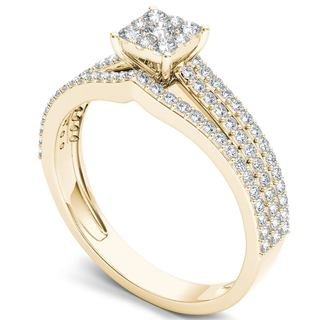 De Couer 10k Gold 5/8ct TDW Diamond Ring (H-I, I2)