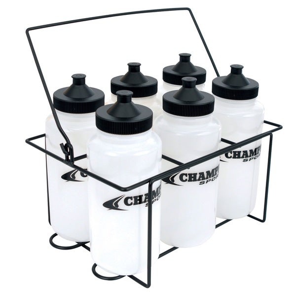 Champro Water Bottle Carrier Set with 6 1 liter bottles
