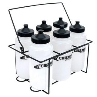 Champro Water Bottle Carrier Set with 6 1 liter bottles