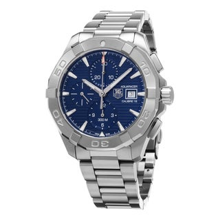 Tag Heuer Men's CAY2112.BA0925 '300 Aquaracer' Blue Dial Stainless Steel Chronograph Swiss Automatic