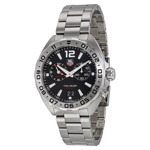 Tag Heuer Men's WAZ111A.BA0875 'Formula 1' Black Dial Stainless Steel Alarm Swiss Quartz Watch