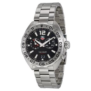 Link to Tag Heuer Men's WAZ111A.BA0875 'Formula 1' Black Dial Stainless Steel Alarm Swiss Quartz Watch Similar Items in Men's Watches