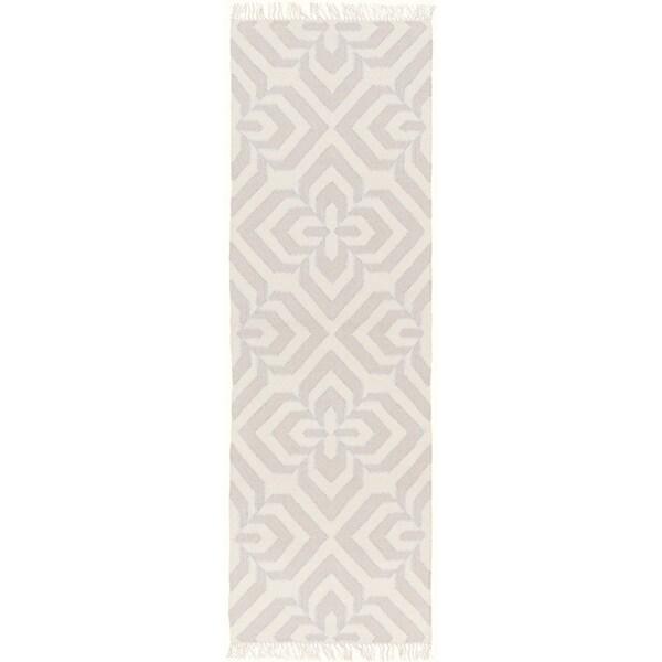 Hand-Woven Madeley Geometric Reversible Wool Rug (2'6 x 8')