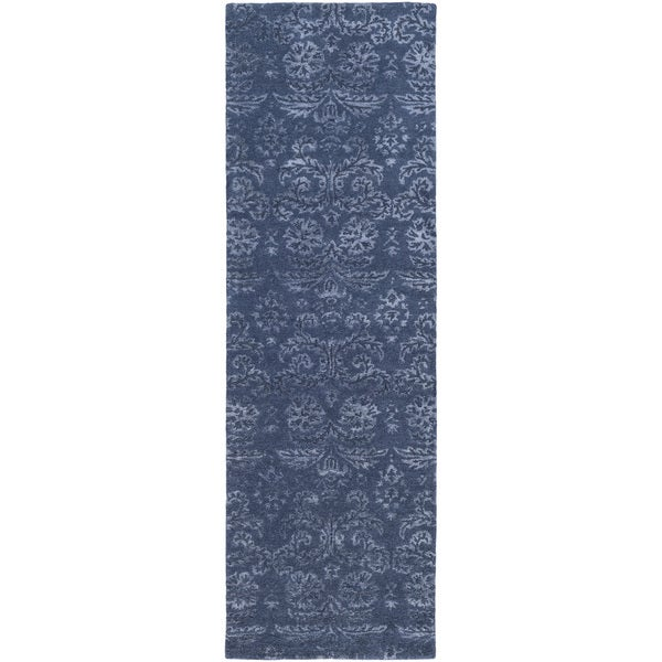 Hand-Tufted Horsham Damask Viscose Rug (2'6 x 8')