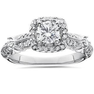 14k White Gold Antique 1 1/ 2ct TDW Diamond Engagement Ring (I-J, I2-I3)