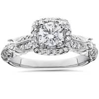 14k White Gold Antique 1 1/ 2ct TDW Diamond Engagement Ring