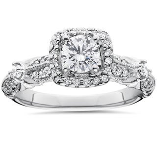 14k White Gold Antique 1 1/ 2ct TDW Diamond Engagement Ring