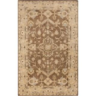 Hand-Tufted Margate Border Indoor Wool Area Rug - 2' x 3'