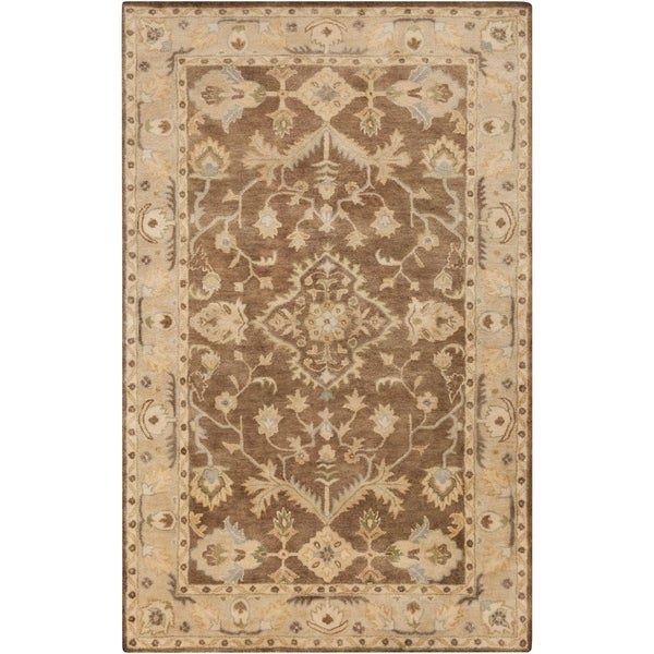 Shop Hand Tufted Margate Border Indoor Wool Area Rug 3 3 X 5 3