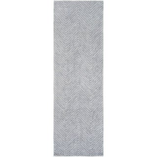 Hand-Woven Halifax Chevron Viscose Rug (2'6 x 10')