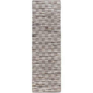 Hand-Woven Raunds Distressed Hair On Hide Rug (2'6 x 8')