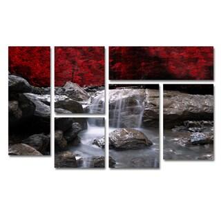 Philippe Sainte-Laudy 'Red Vison' 6 Panel Art Set
