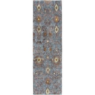 Hand-Tufted Jackie Ikat Banana Silk Rug (2'6 x 8')