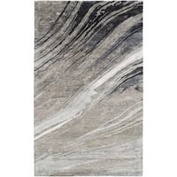 Silver Orchid Sparkes Hand-Tufted Abstract Banana Silk Area Rug - 3'3 x 5'3