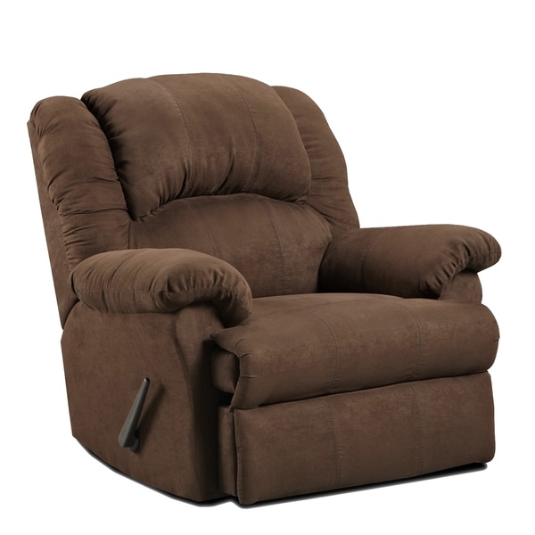 Exceptionnel Aruba Microfiber Dual Rocker Recliner Chair, Chocolate