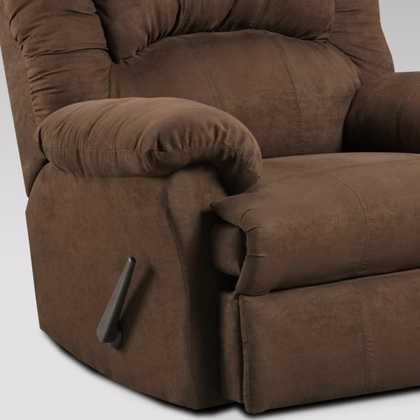 Aruba Microfiber Dual Rocker Recliner Chair Chocolate - Free Shipping Today - Overstock.com - 17533694 & Aruba Microfiber Dual Rocker Recliner Chair Chocolate - Free ... islam-shia.org