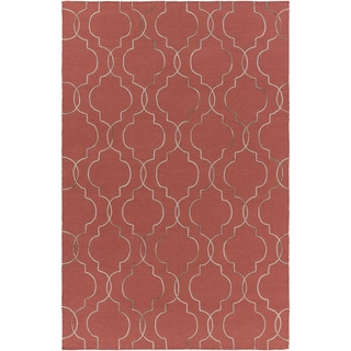Hand-Woven Jaelyn Geometric Pattern Wool Area Rug