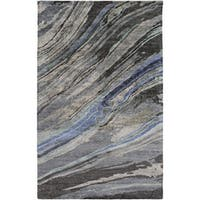 Silver Orchid Sparkes Hand-Tufted Abstract Banana Silk Area Rug - 2' x 3'