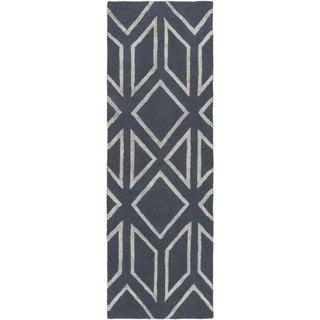 Hand-Tufted Jaclyn Geometric Pattern Viscose Area Rug