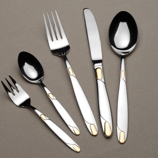 Berghoff Straight 30-piece Gold Flatware Set