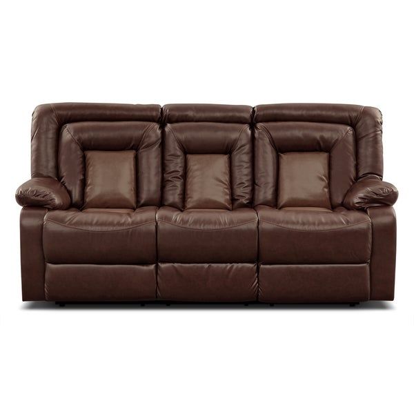 Kmax 2-Toned PU Dual Reclining Sofa with Drop Console
